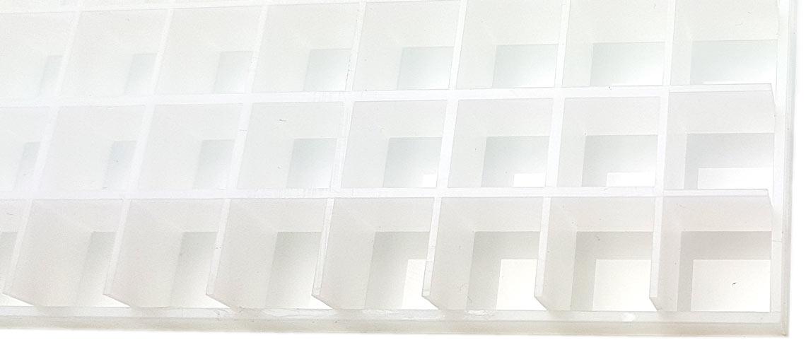 Bild Lichtrasterplatte Detailansicht