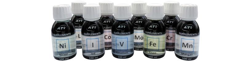 Spurenelemente für das Meerwasseraquarium Spurenelemente / Elemente