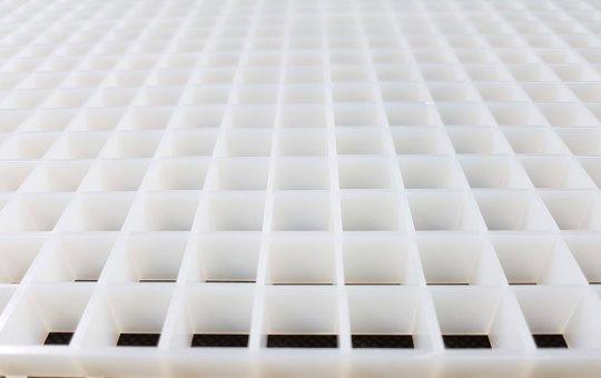 Lichtrasterplatte weiß 620x624x13mm