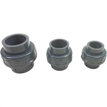 PVC-U Verschraubung 2-fach Klebemuffe verschiedene Durchmesser