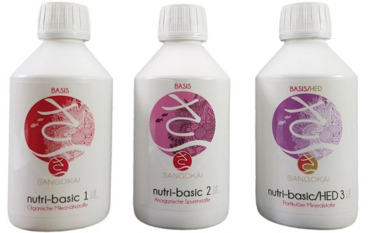 Sangokai Basis Set | Nutri-Basic #1, 2 & 3 500 ml