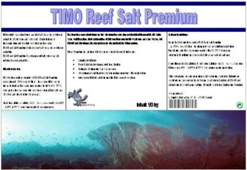TIMO reef salt premium Meersalz 20 kg