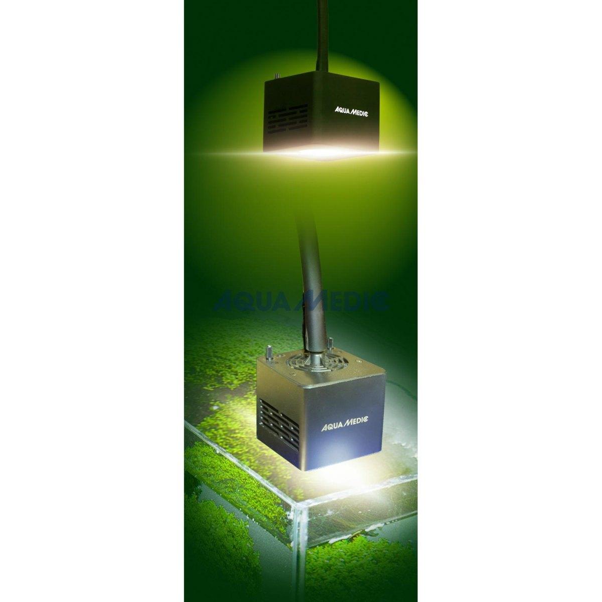 aqua medic qube 50 plant led spot beleuchtung in led. Black Bedroom Furniture Sets. Home Design Ideas