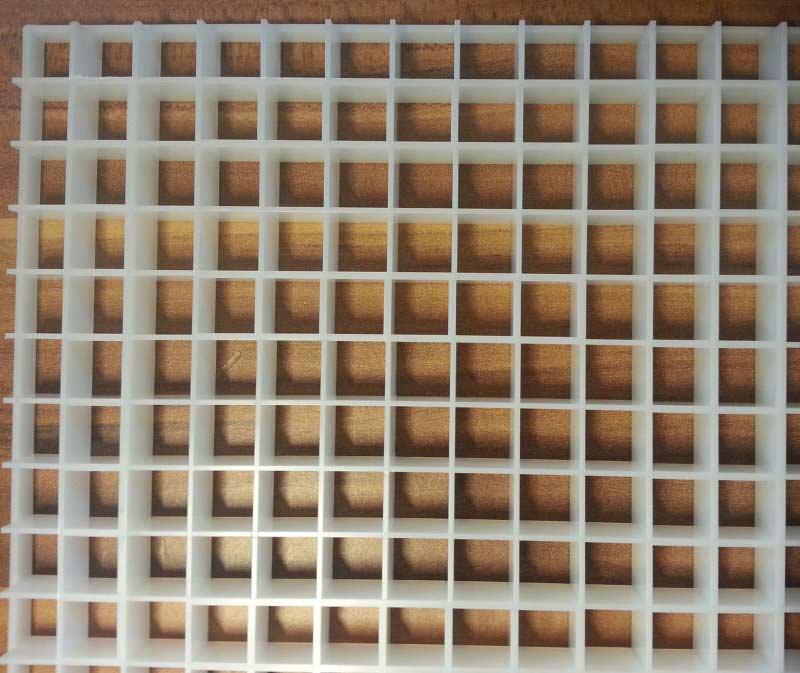 Bild von einer Lichtrasterplatte